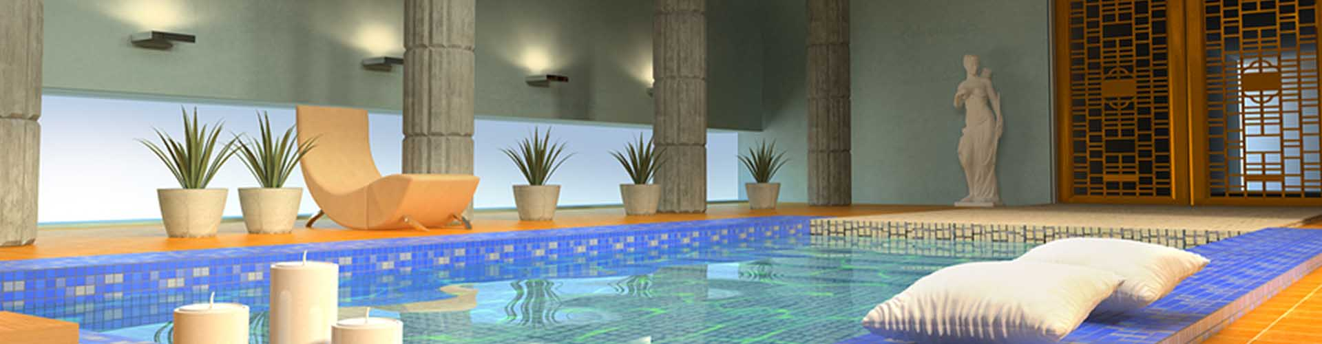 Indoor Pool mit Mosaiksteinen