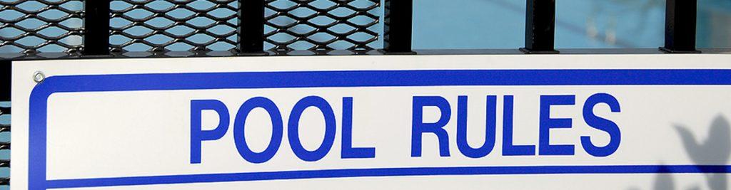 Pool-Schild